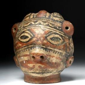 Rare Costa Rican Pottery Trophy Head