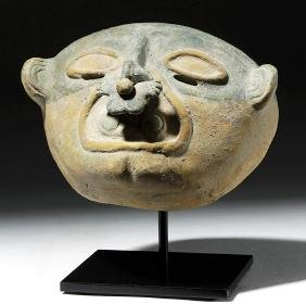 Wonderful Jama Coaque Pottery Maskette
