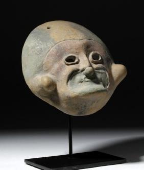 Jamacoaque Polychrome Mask of a Grotesque