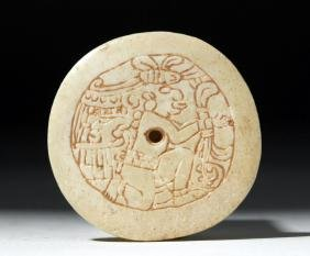 Mayan Carved Shell Figural Gorget