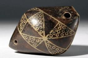Large Narino Pottery Whistle - Shell