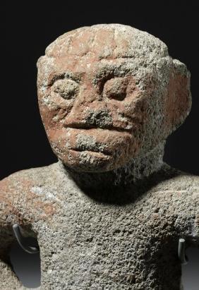 Very Fine Costa Rican Stone Standing Figure
