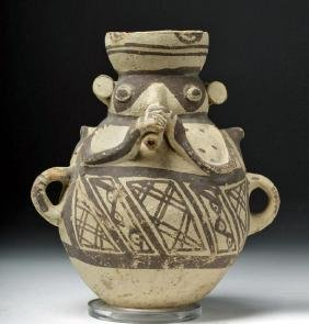 Chancay Pottery Jar - Flute Player Form