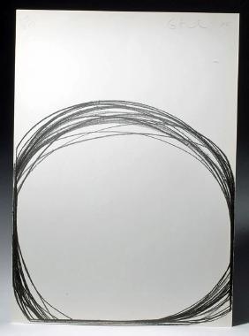 Contemporary Artist G. Kuehn Gesture Project Lithograph