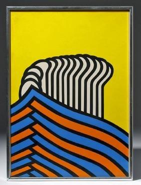 N. Krushenick Pop Art Silkscreen