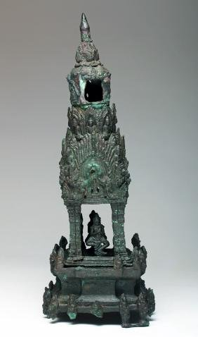 Incredible Cambodian Khmer Bronze Temple