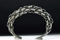 Viking Braided Silver Bracelet