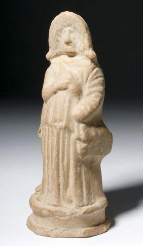 Greek Hellenistic Terracotta Figure - Tragic Actor