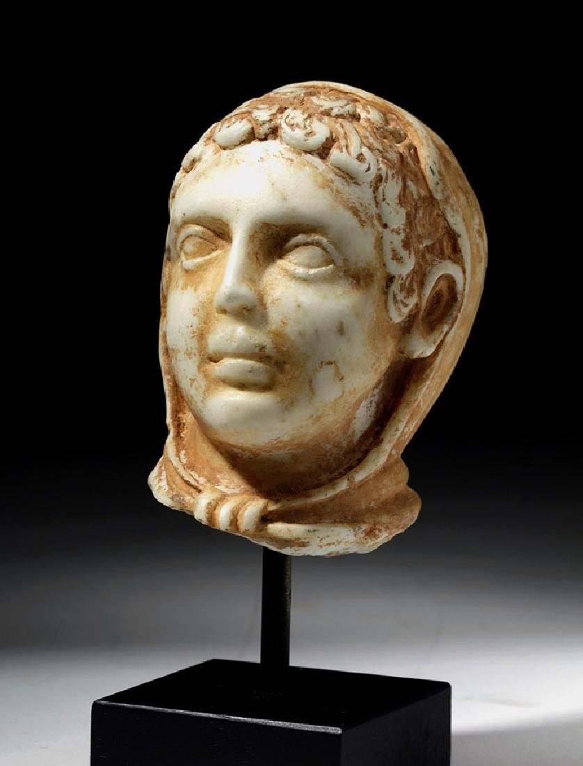 Romano-Egyptian Marble Head of a Youth