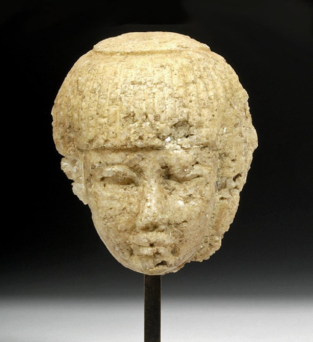 Egyptian Late Dynastic Marble Head of an Official