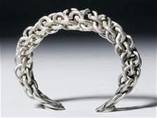 Viking Braided Silver Bracelet  425 g