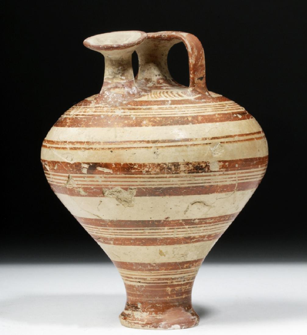 Greek Mycenaean Pottery Piriform Jar
