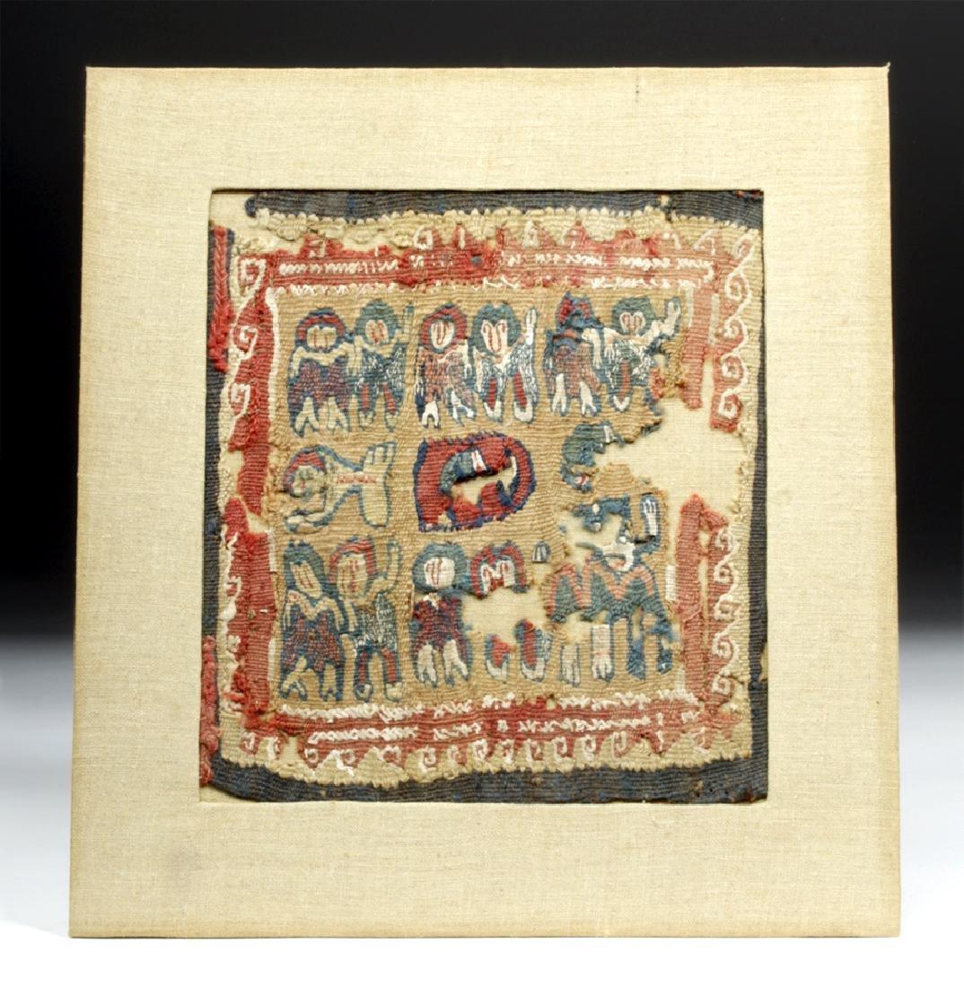 Very Fine Coptic Polychrome Textile