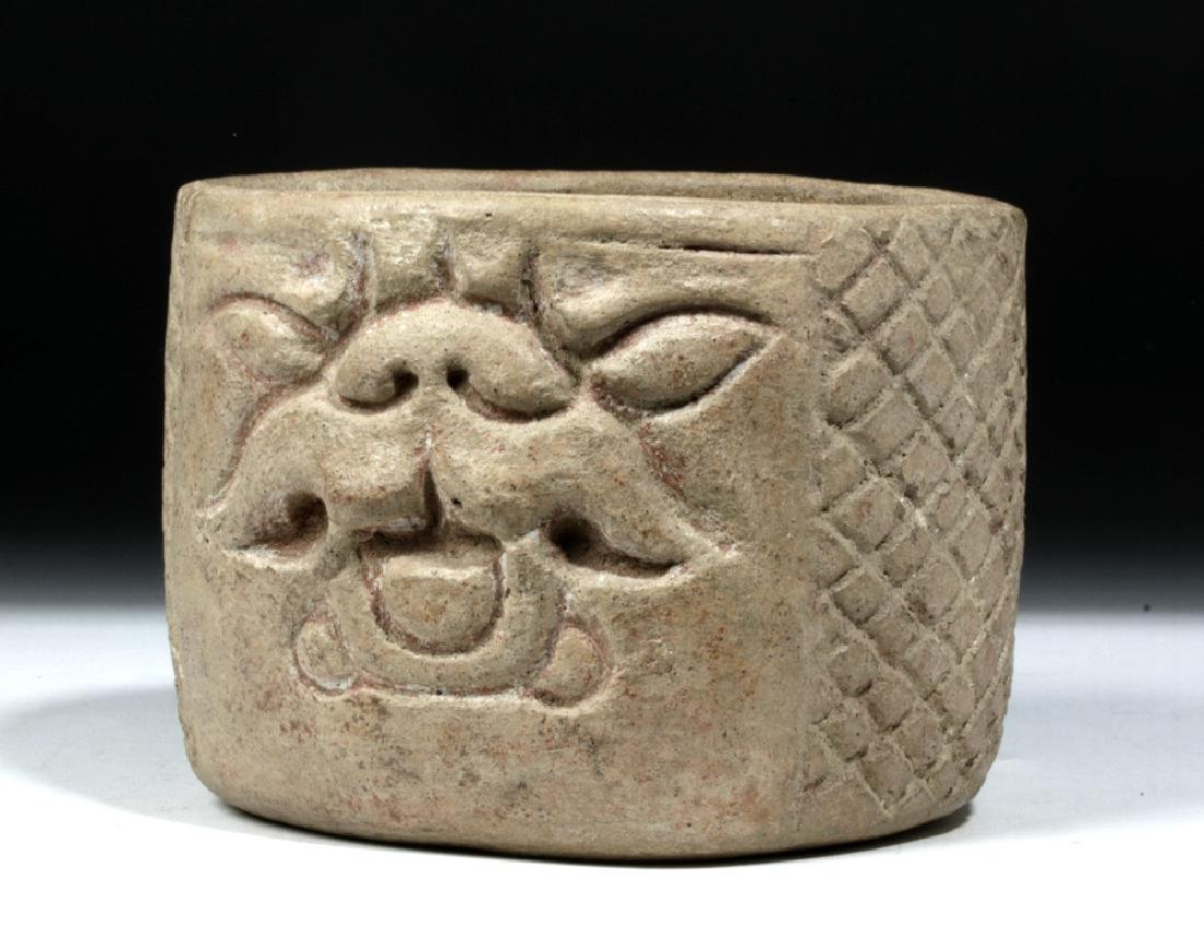 Rare / Superb Olmec Terracotta Vessel - Feline