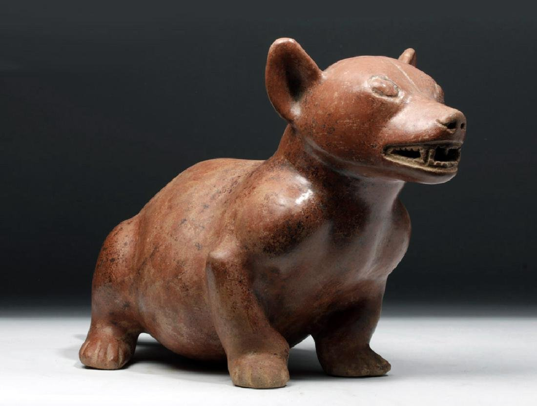 Large/Superb Colima Redware Dog Effigy