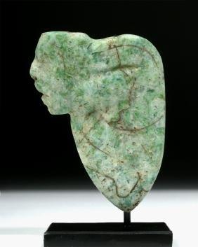 Incised Olmec Jade Pendant - Hunchback