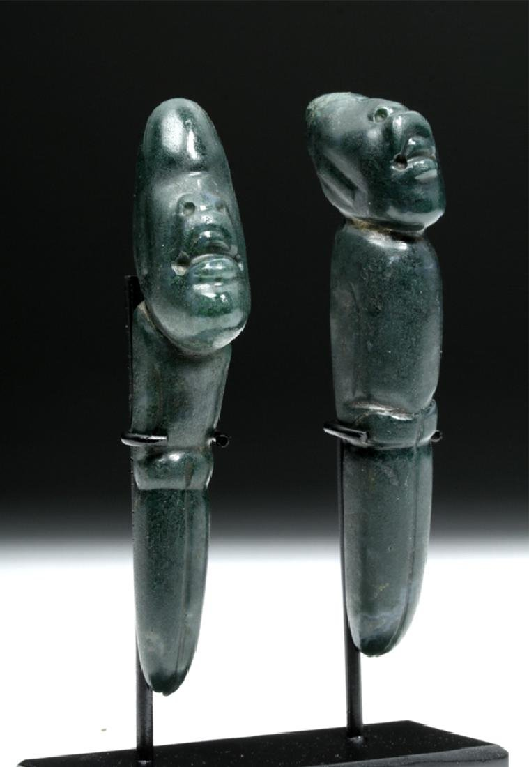 Rare / Superb Olmec Jade Perforators (pr)