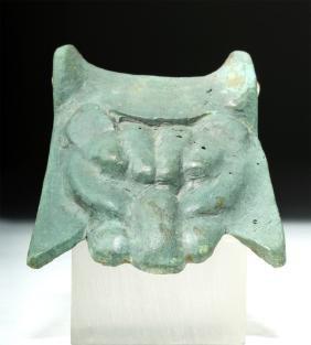 Greek Bronze Handle Attachment - Lion Head