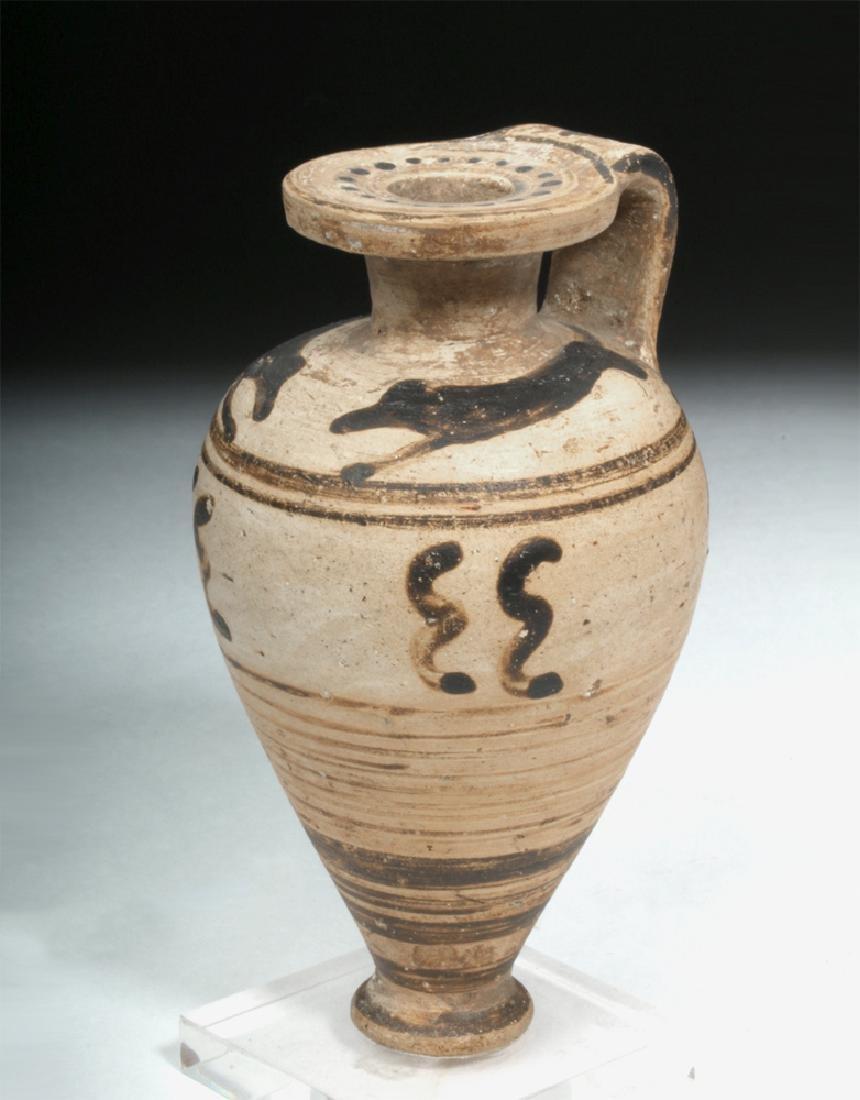Etrusco-Corinthian Pottery Aryballos - Hounds
