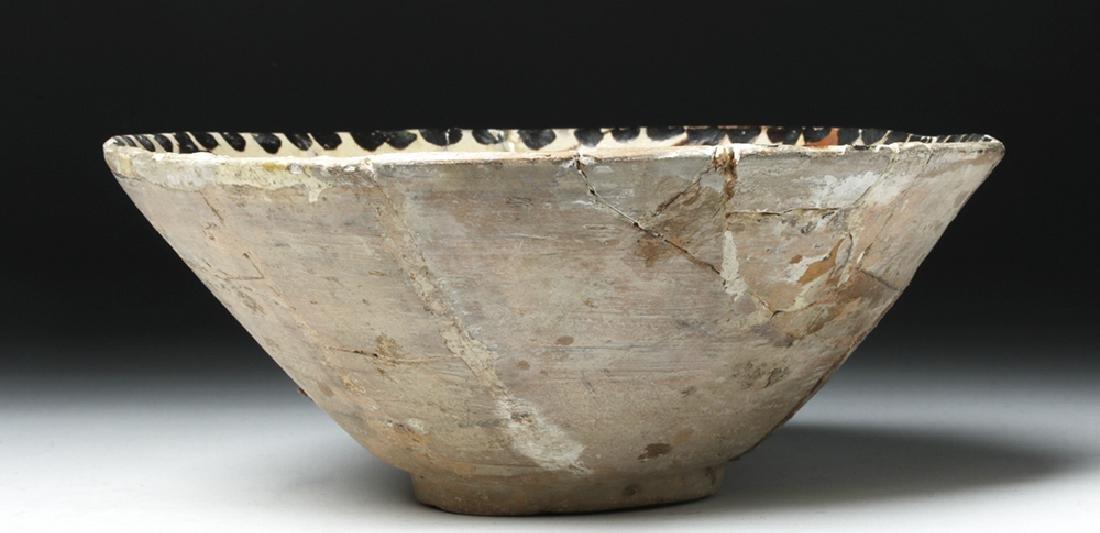 19th C. Persian Ceramic Bowl - Abstract Bird - 3