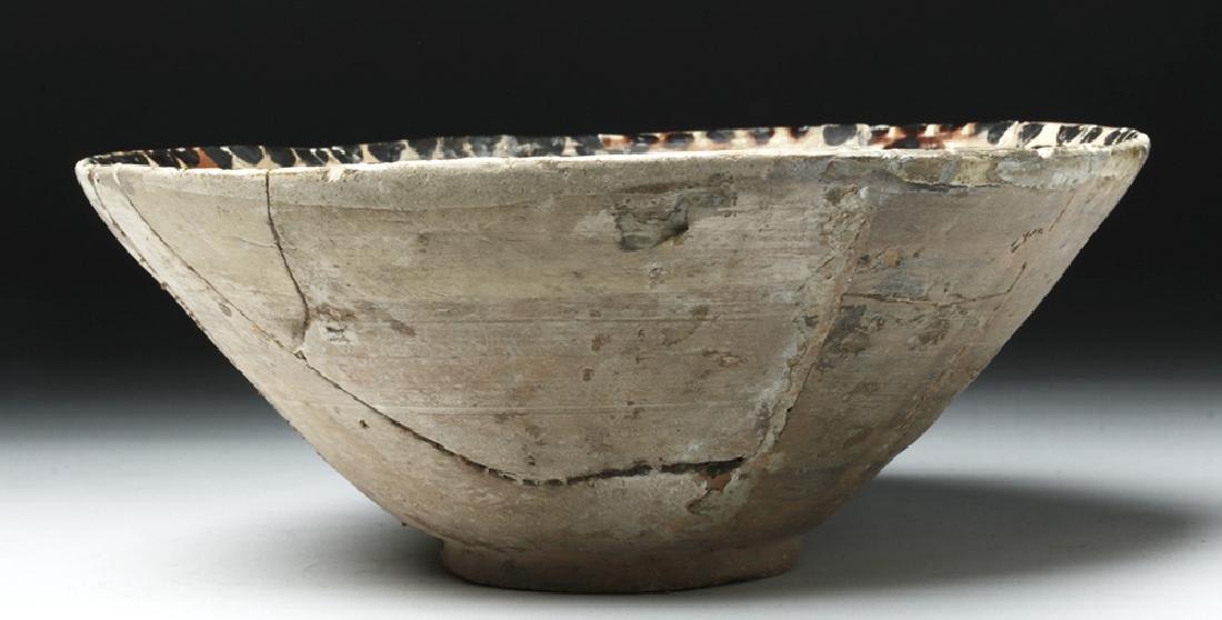 19th C. Persian Ceramic Bowl - Abstract Bird - 4