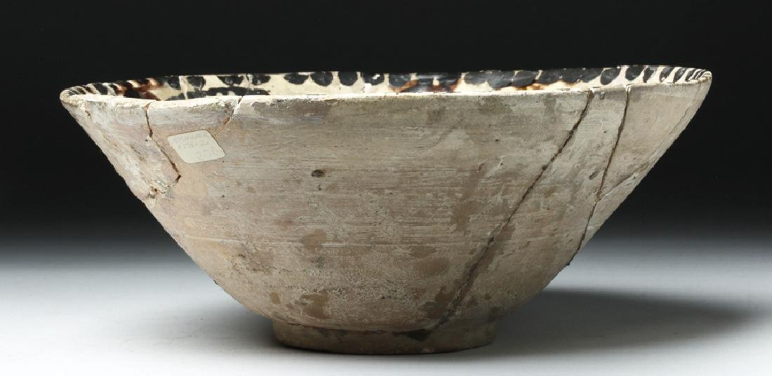 19th C. Persian Ceramic Bowl - Abstract Bird - 5