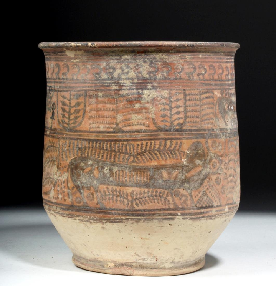 Indus Valley Painted Redware Jar - Bulls