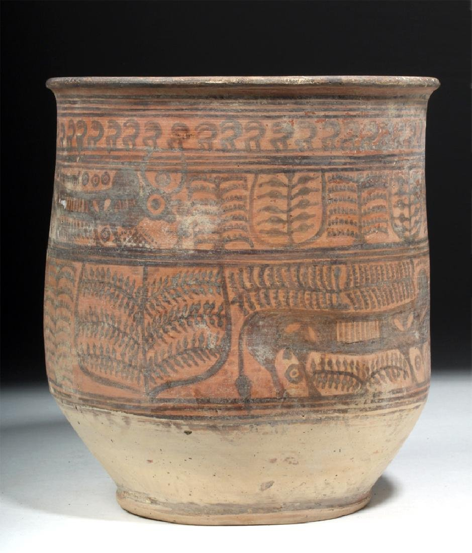 Indus Valley Painted Redware Jar - Bulls - 3