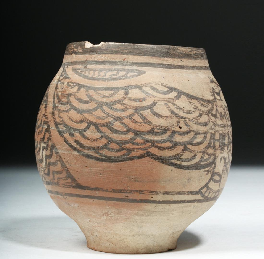 Rare Indus Valley Pottery Jar with Eagle - 2