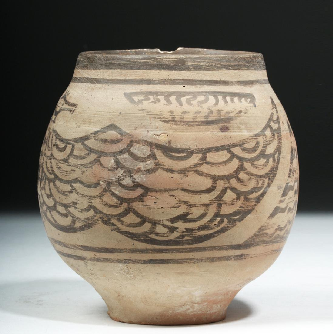 Rare Indus Valley Pottery Jar with Eagle - 4