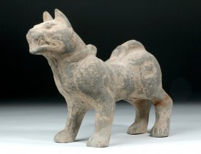 Ancient Chinese Han Dynasty Pottery Dog