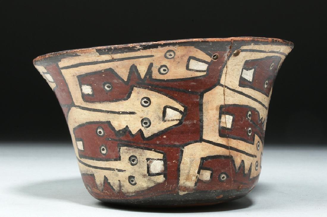Attractive Nazca Polychrome Kero - Snakes - 2