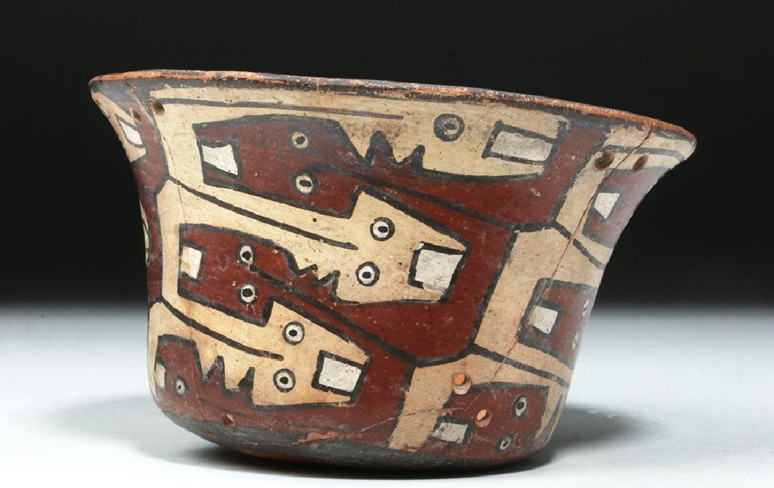 Attractive Nazca Polychrome Kero - Snakes - 3
