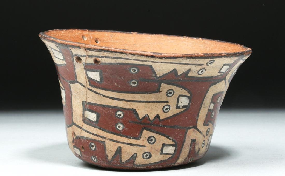 Attractive Nazca Polychrome Kero - Snakes - 4