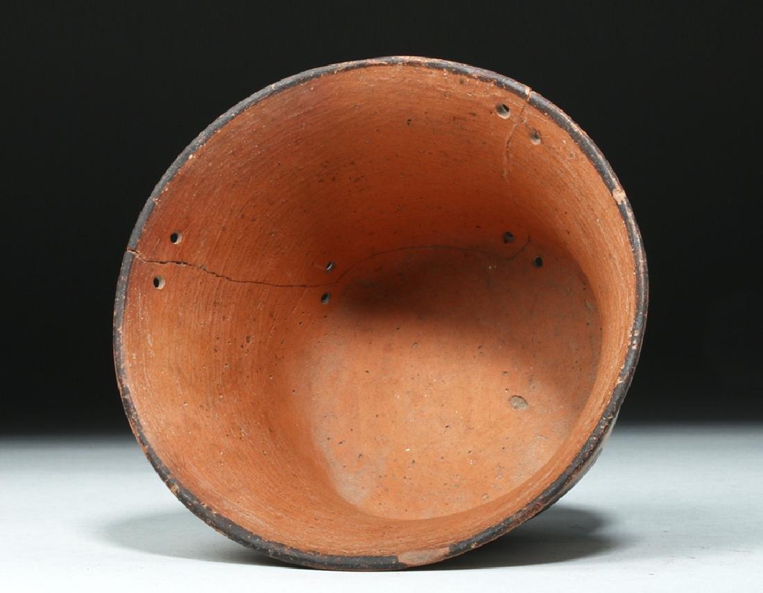 Attractive Nazca Polychrome Kero - Snakes - 5
