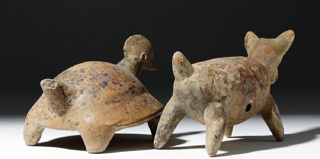 Pair of Nayarit Pottery Animal Forms - 3