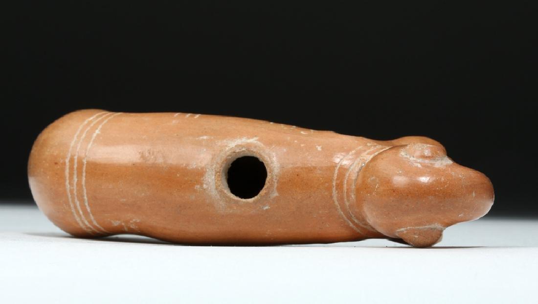 Rare Pre-Columbian Pottery Ocarina - Bird & Dolphin - 6