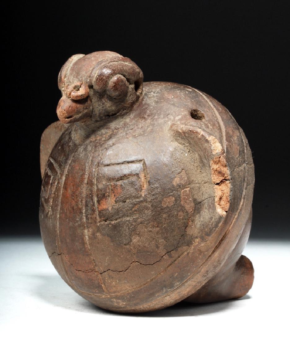Tairona Bird-Form Pottery Ocarina - 3