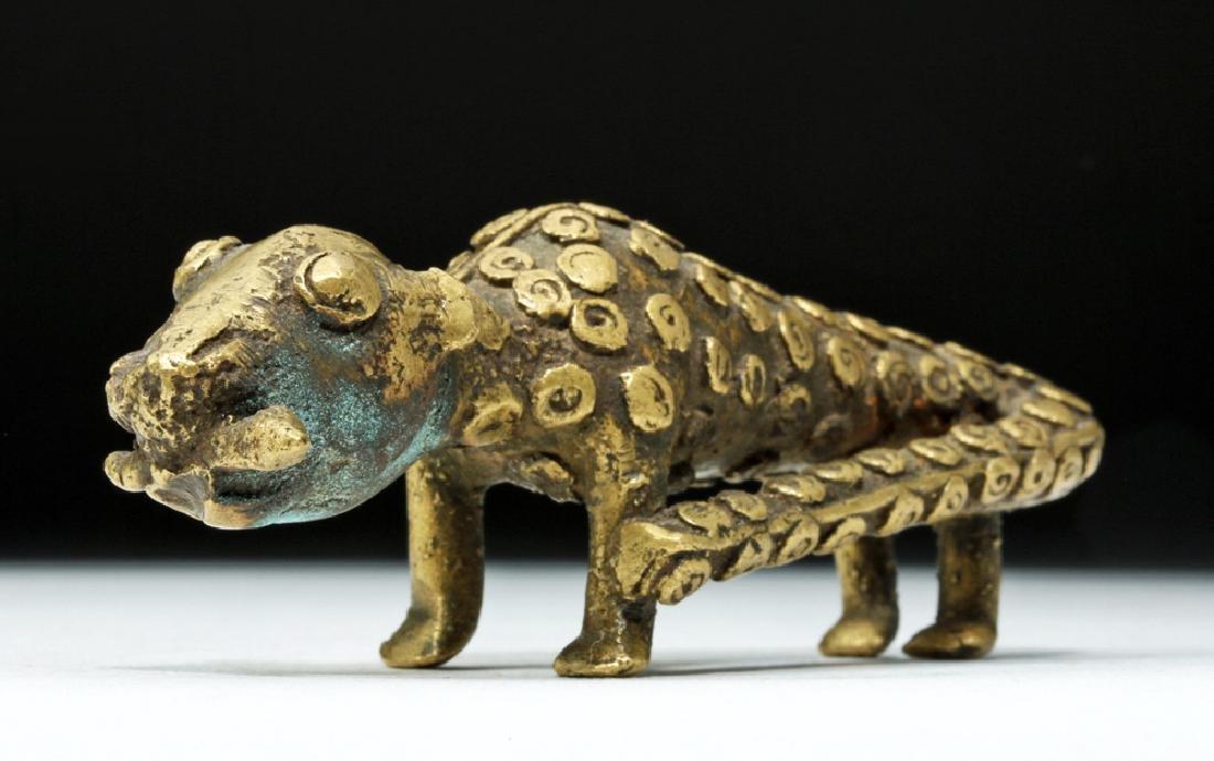 19th C. African Benin Brass Feline - Leopard
