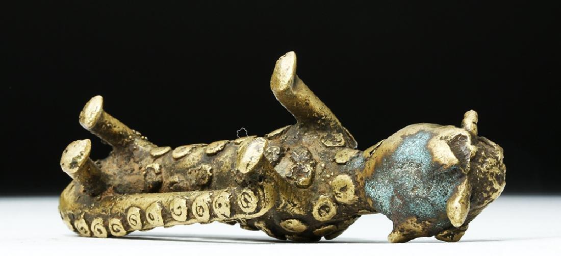 19th C. African Benin Brass Feline - Leopard - 6