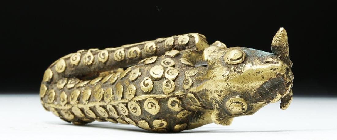 19th C. African Benin Brass Feline - Leopard - 7