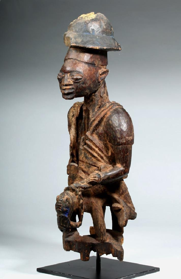 Early 20th C. Yoruba Wood Colonial Horse Rider