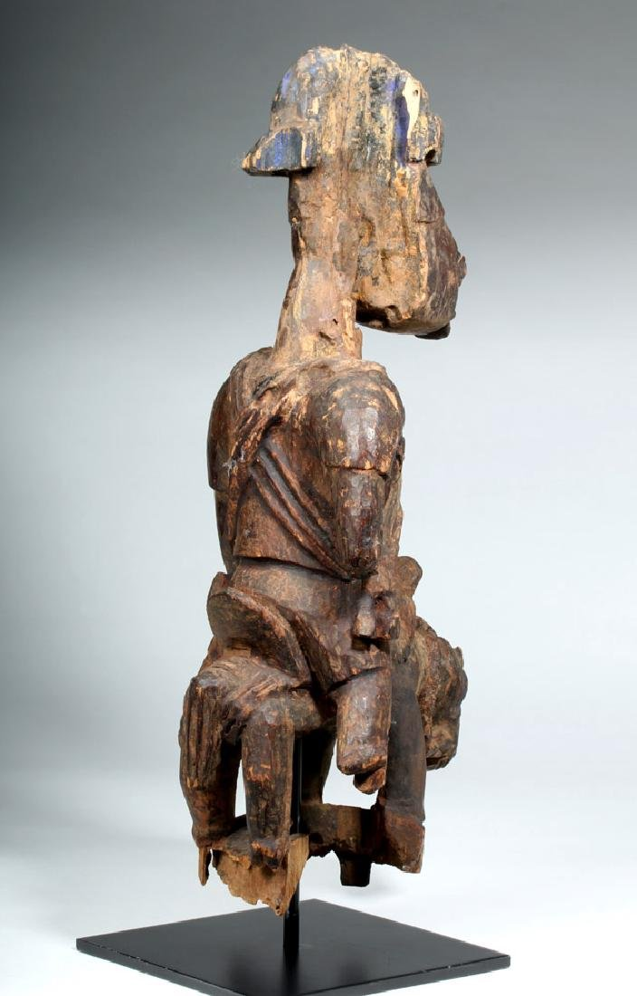 Early 20th C. Yoruba Wood Colonial Horse Rider - 3