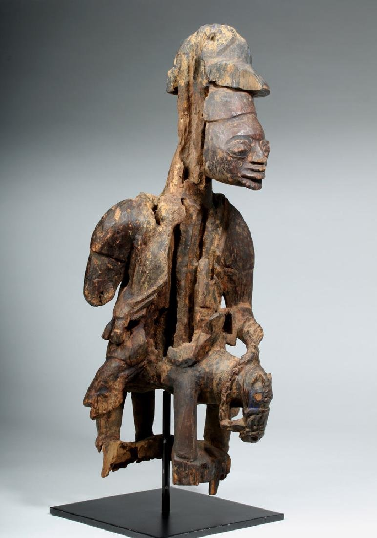 Early 20th C. Yoruba Wood Colonial Horse Rider - 4