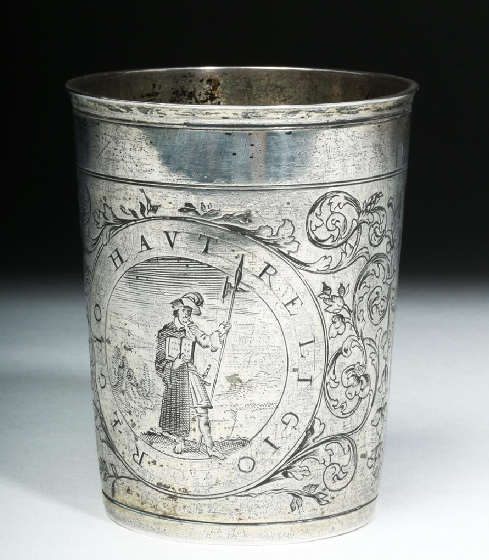 Early 20th C. English Silver Cup w/ Dog - 3