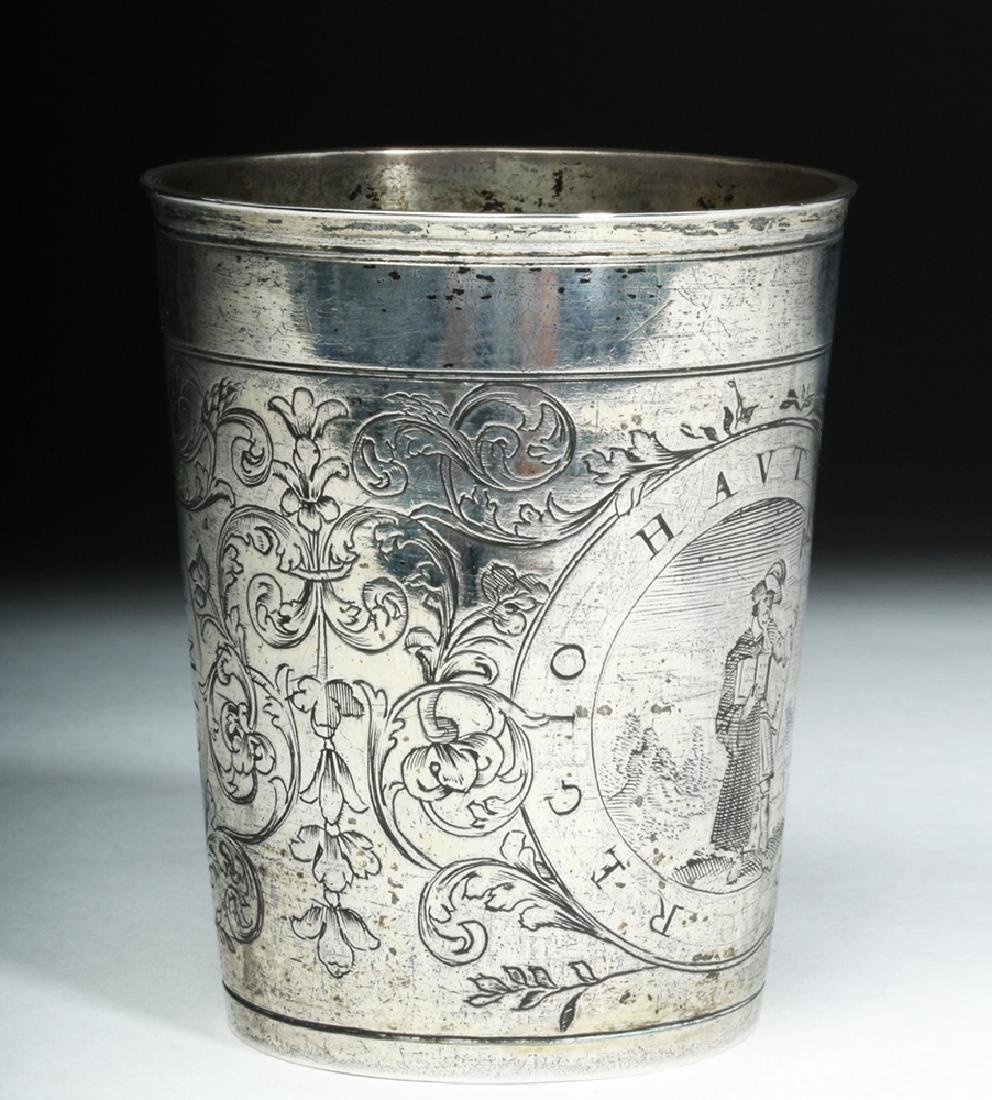 Early 20th C. English Silver Cup w/ Dog - 4
