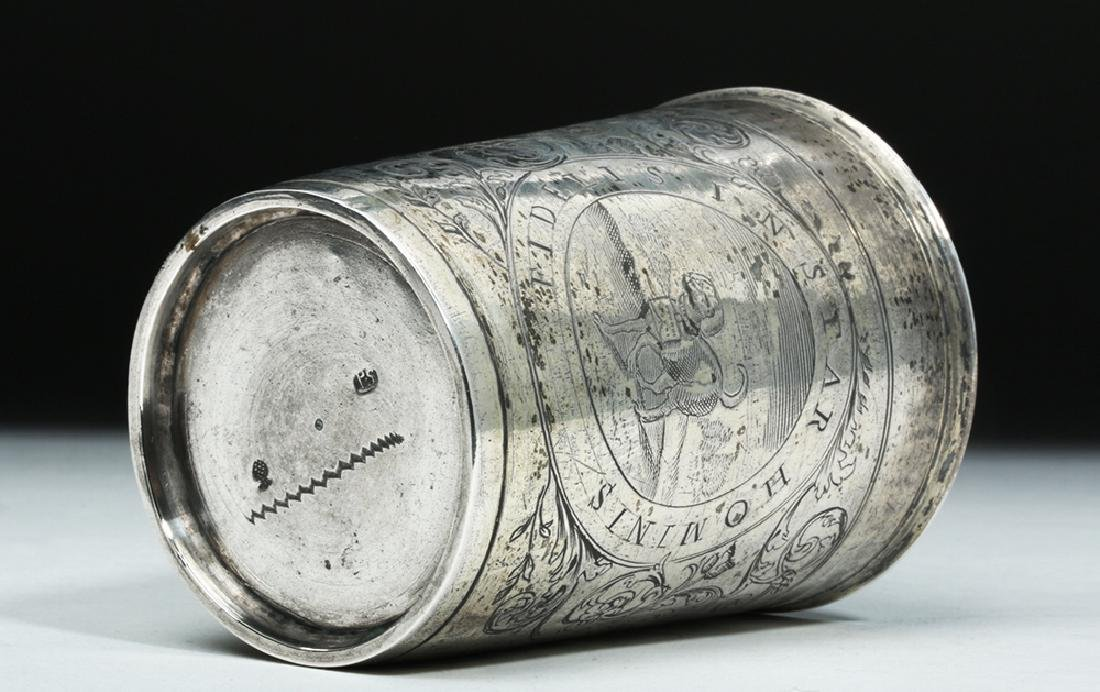 Early 20th C. English Silver Cup w/ Dog - 6