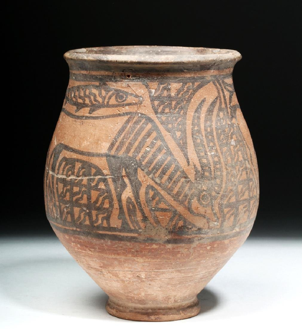Indus Valley Pottery Jar - Antelope & Fish