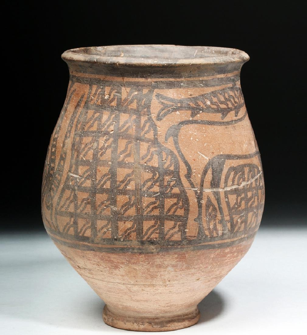 Indus Valley Pottery Jar - Antelope & Fish - 3