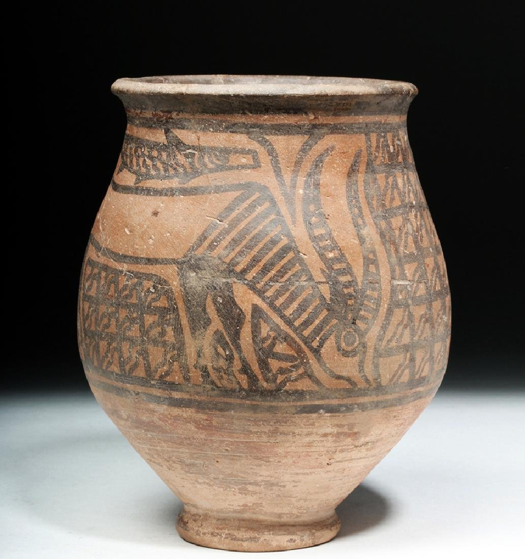 Indus Valley Pottery Jar - Antelope & Fish - 4